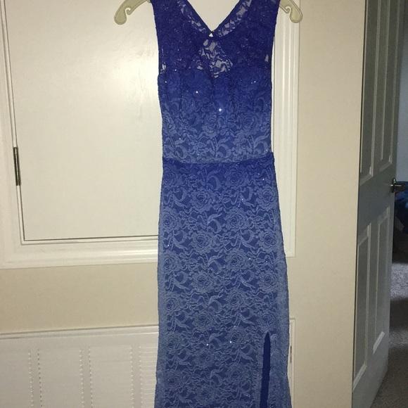 11555323 City Triangles Dresses   Sparkle Lace Ombr Blue Prom Dress   Poshmark
